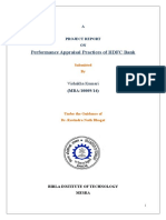 Performance Appraisal Practices of HDFC Bank