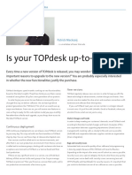 Is your TOPdesk up-to-date?