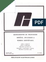 Acionamentos de Velocidade Variável Aplicados a Bombas Centrífugas 1983