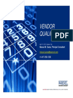 Vendor Qualification 2016