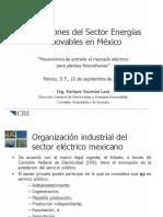 REGULACIÓN DEL SECTOR DE ENERGIAS RENOVABLES EN MÉXICO