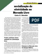 Artigo Técnico Comercialização de Bioeletricidade No Mercado Livre