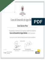 Certificado Desarrollo de Apps
