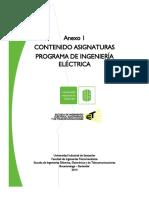 Contenido Asignaturas Ing. Electrica