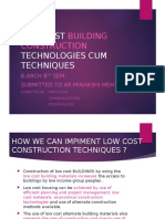 Low Cost Building Technologies