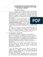 Estudio e Incidencia de Las Construcciones de Adobe en La Reducción de Desastres en La Ciudad de Huaraz