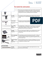 Catalogue Selection of Specific Tools for Extrusion