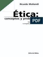 Maliandi Ricardo - Etica - Conceptos Y Problemas