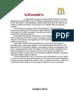 Identificarea Si Analiza Riscurilor Care Afecteaza Activitatea Restaurantelor Mcdonald's in Moldova