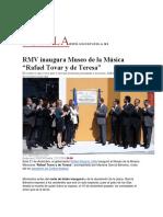 """21.12.2016 Unión Puebla - RMV inaugura Museo de la Música """"Rafael Tovar y de Teresa"""""""