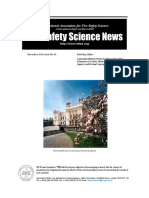Fire Safety Science News #40 - November, 2016