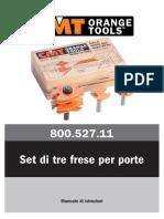 CMT Set 3 Frese Per Porte Art. 800.527.11