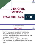 E3-E4 Civil Ppt_E3 E4 Civil Technical Chapter-3 STAAD PRO- An Overview