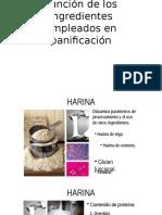 Función de Los Ingredientes Empleados en Panificación