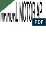 Manual Motor Volkswagen Motor AP