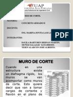 Función de Muros de Corte Estructurales.