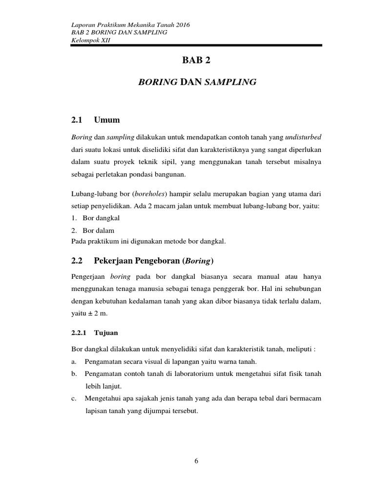 Bab 2 Boring Sampling
