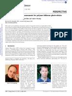DeLongchamp DM; Kline JR; Herzig a. Nanoscale Structure Measurements for Polymer-fullerene Photovoltaics. Energy and Environmental Science 2012.