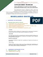 ESPECIFICACIONES  EQUIPAMIENTO MOBILIARIO