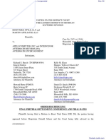 Eight Mile Style, LLC et al v. Apple Computer, Incorporated - Document No. 32