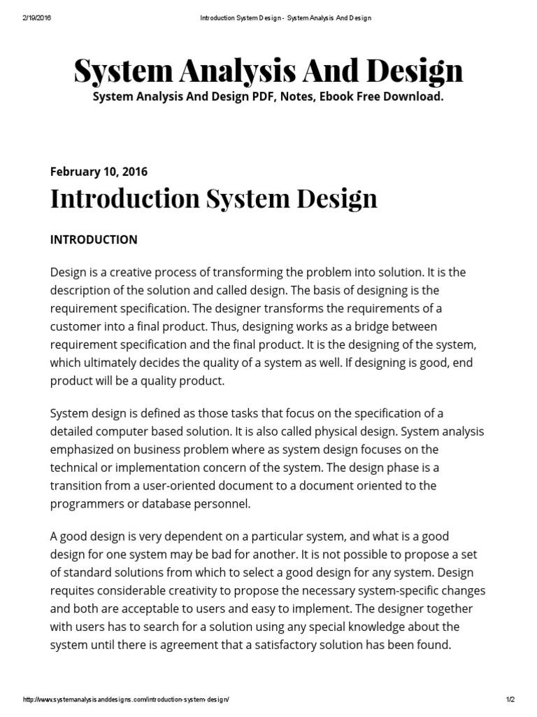System Design Modular Programming Biometrics