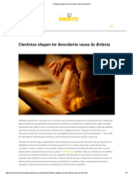 Cientistas Alegam Ter Descoberto Causa Da Dislexia