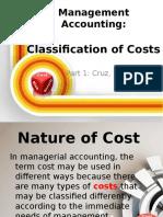 Classification of Costs and CVP Cruz Manzano Asi