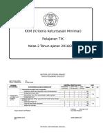KKM TIK Kelas 2