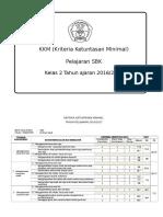 KKM SBK Kelas 2