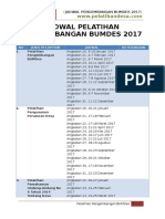 Jadwal Pelatihan BUMDes 2017