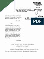 Cambridge University Press et al v. Patton et al - Document No. 1