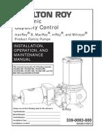 Milton Roy Pump Electronic Control Circuit