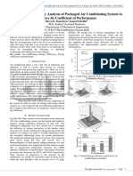 A Review on an Exergy Analysis Of Packaged Air Conditioining System To Improve Its Coefficient Of Performance