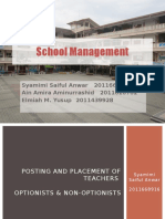 Efficiency in School Management