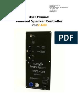 PSC2400 Manual   Amplifier   Digital Signal Processing