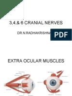 3,4,& 6 Cranial Nerves