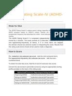 Adhd Rating Scale Scoring
