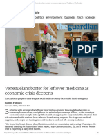 (18 May 2016) Venezuelans Barter for Leftover Medicine as Economic Crisis Deepens _ World News _ the Guardian