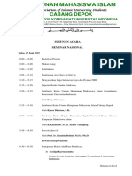 Susunan Acara - Seminar Nasional