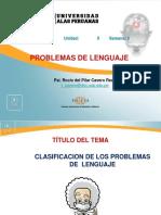 Clasificacion de Los Problemas de Lenguaje Final