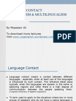 Lang Contact Bi and Multilingualism