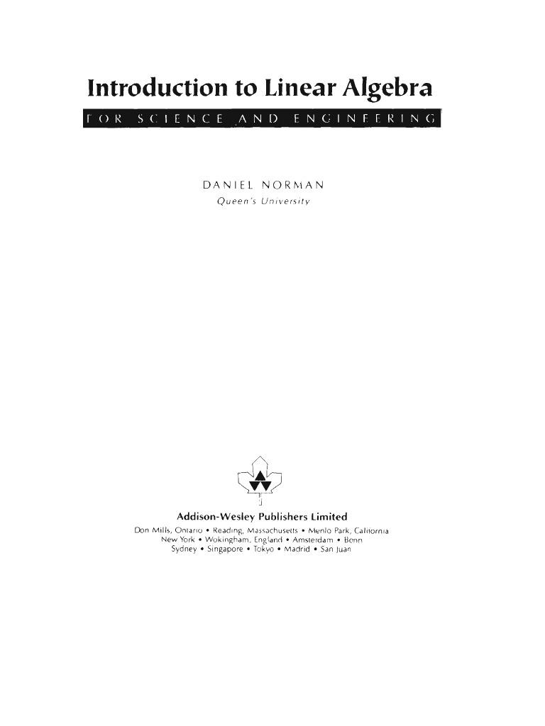 Linear.algebra.D.norman | Matrix (Mathematics) | Eigenvalues And  Eigenvectors