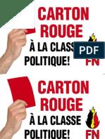 Carton rouge à la classe politique !