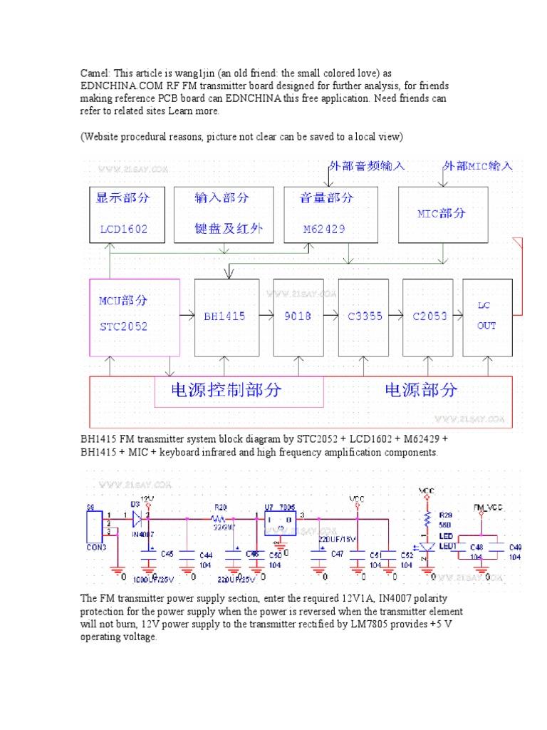 Bh1415f Amplifier Microphone Rf Transmitter Block Diagram
