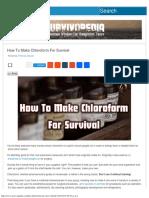 How to Make Chloroform for Survival _ Survivopedia