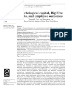 Psychological Capital, Big Five Traits, And Employee Outcomes