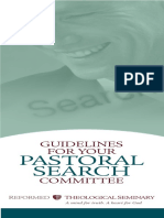 Guidelines for Your Pastoral Search Committee