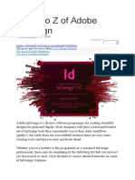 The a to Z of Adobe InDesign