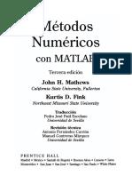 Metodos Numericos Con Matlab