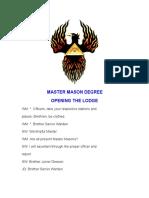 Master Mason Degree